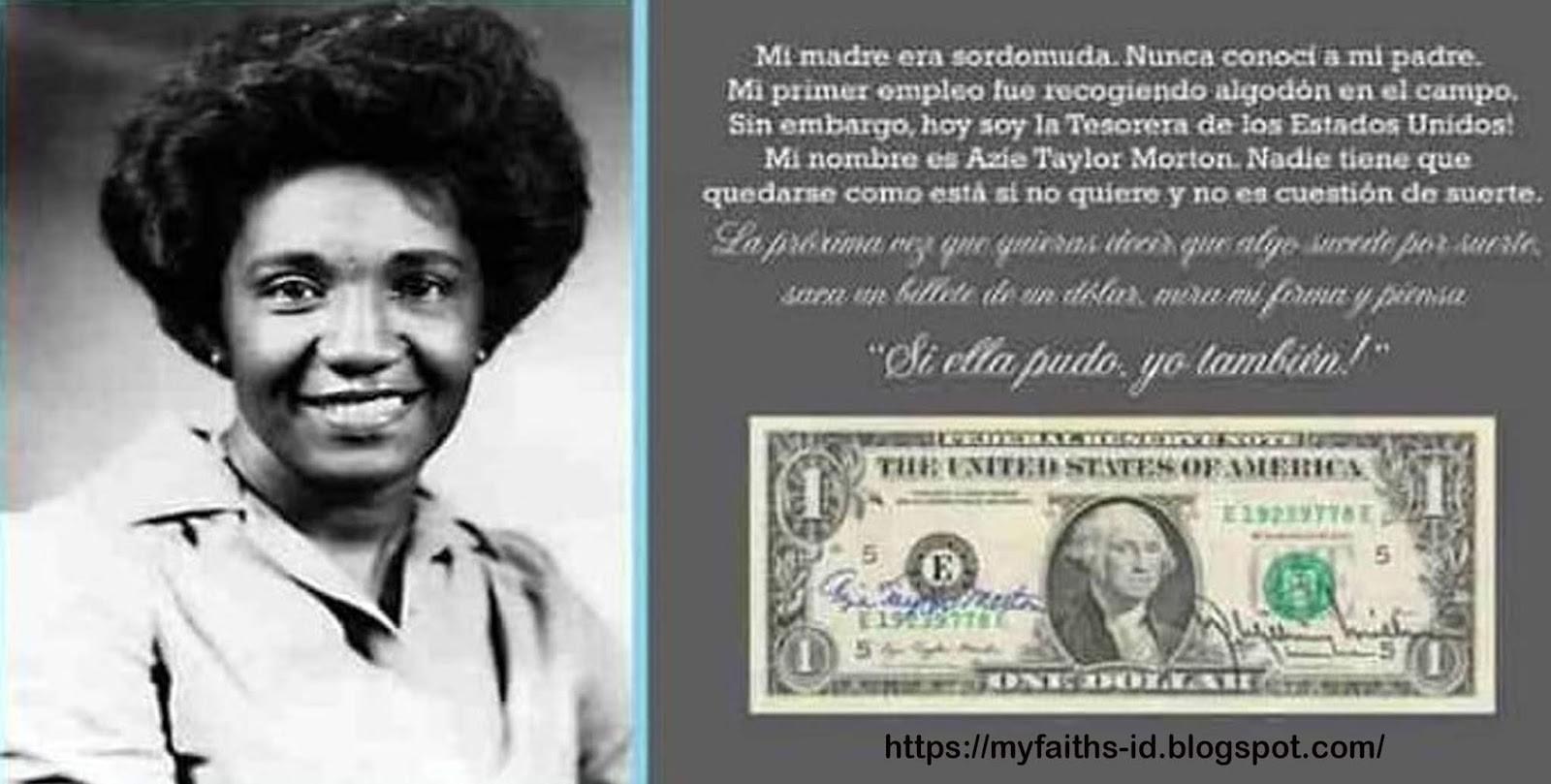 Kisah Inspiratif Azie Taylor Morton, Mantan Menkeu AS